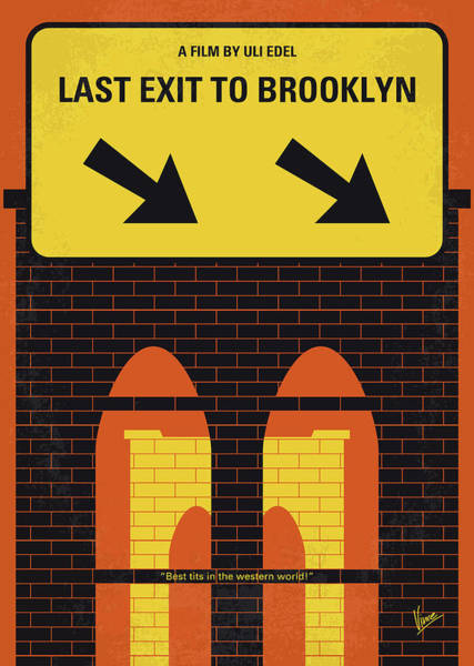 1950s Wall Art - Photograph - No879 My Last Exit To Brooklyn Minimal Movie Poster by Chungkong Art