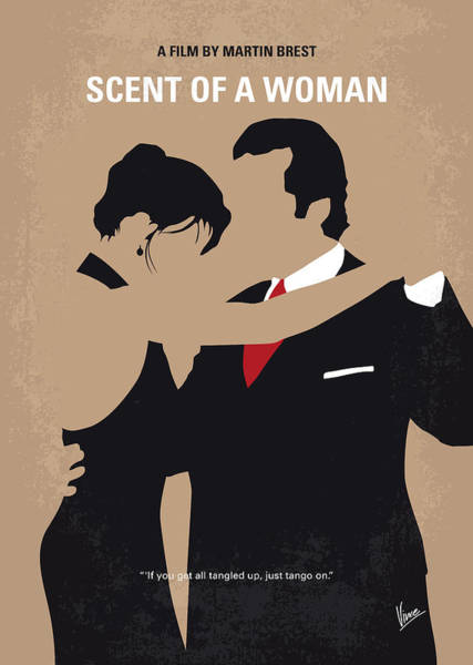 Student Wall Art - Digital Art - No888 My Scent Of A Woman Minimal Movie Poster by Chungkong Art