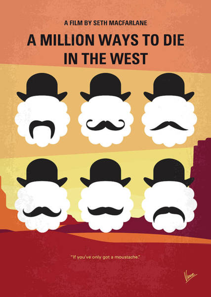 Albert Wall Art - Digital Art - No890 My A Million Ways To Die In The West Minimal Movie Poster by Chungkong Art