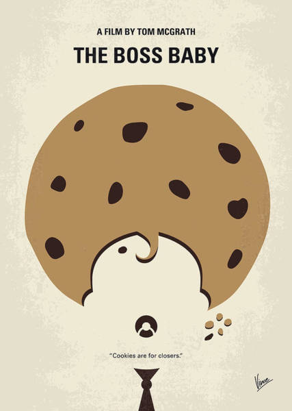 Wall Art - Digital Art - No906 My Boss Baby Minimal Movie Poster by Chungkong Art