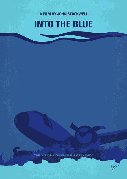 Boats Digital Art - No912 My Into The Blue Minimal Movie Poster by Chungkong Art