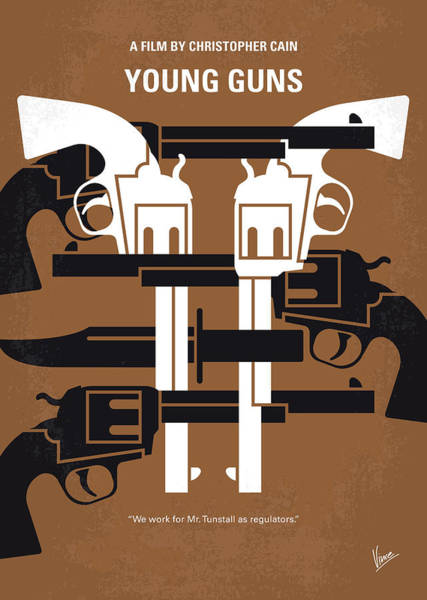 Young Man Wall Art - Digital Art - No916 My Young Guns Minimal Movie Poster by Chungkong Art