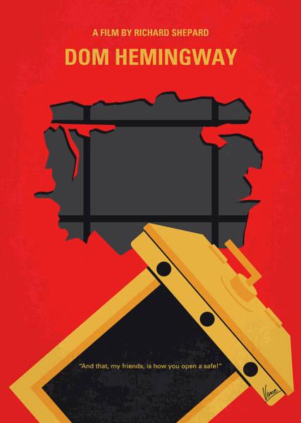 Dom Wall Art - Digital Art - No917 My Dom Hemingway Minimal Movie Poster by Chungkong Art