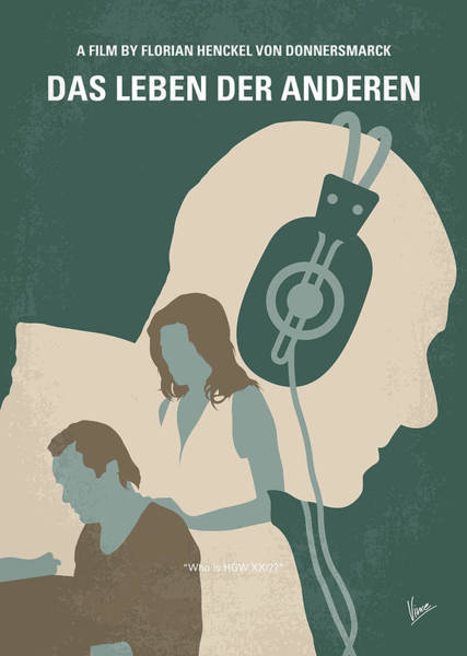 Wall Art - Digital Art - No918 My Das Leben Der Anderen Minimal Movie Poster by Chungkong Art