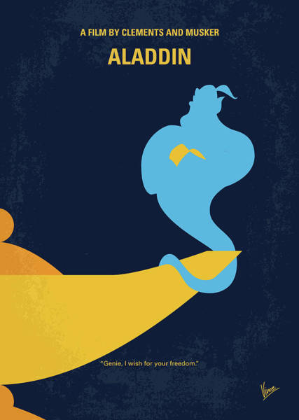 Wall Art - Digital Art - No920 My Aladdin Minimal Movie Poster by Chungkong Art