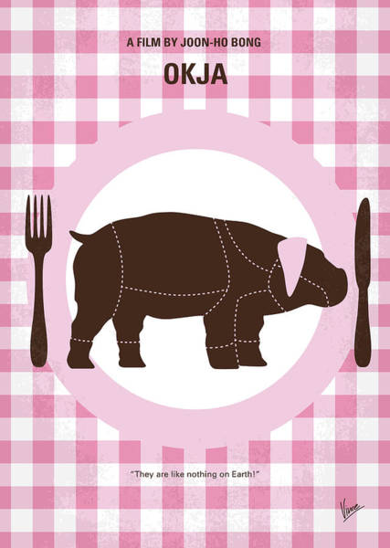Wall Art - Digital Art - No921 My Okja Minimal Movie Poster by Chungkong Art