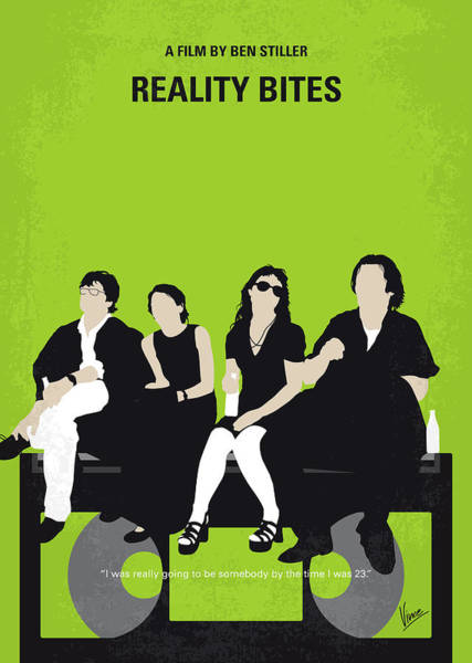 Bite Wall Art - Digital Art - No938 My Reality Bites Minimal Movie Poster by Chungkong Art