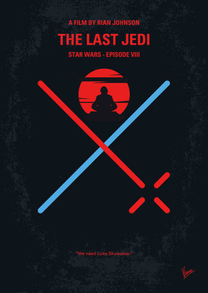 Star Wars Wall Art - Digital Art - No940 My Star Wars Episode Viii The Last Jedi Minimal Movie Poster by Chungkong Art