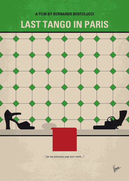 Wall Art - Digital Art - No941 My Last Tango In Paris Minimal Movie Poster by Chungkong Art