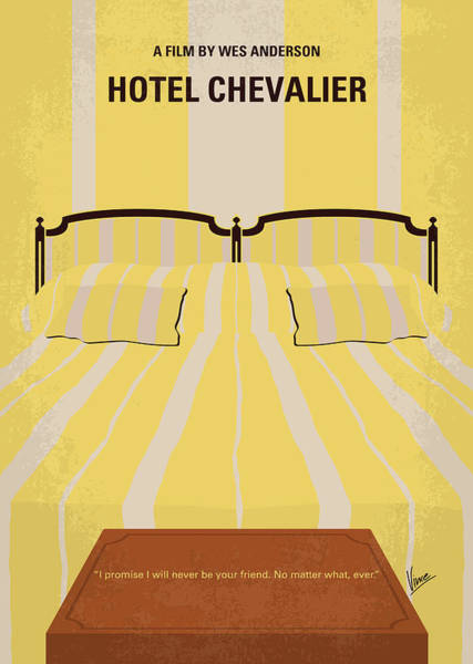 Wall Art - Digital Art - No943 My Hotel Chevalier Minimal Movie Poster by Chungkong Art