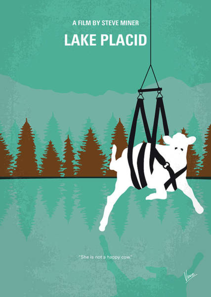 Lake Digital Art - No944 My Lake Placid Minimal Movie Poster by Chungkong Art