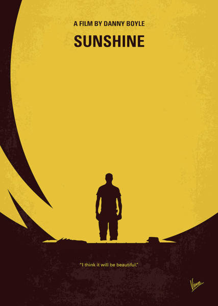 Astronaut Digital Art - No947 My Sunshine Minimal Movie Poster by Chungkong Art