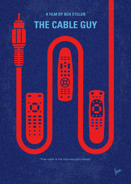 Cable Digital Art - No948 My The Cable Guy Minimal Movie Poster by Chungkong Art