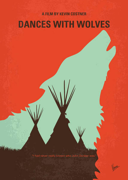 Sioux Wall Art - Digital Art - No949 My Dances With Wolves Minimal Movie Poster by Chungkong Art