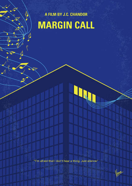 Financial Crisis Wall Art - Digital Art - No950 My Margin Call Minimal Movie Poster by Chungkong Art