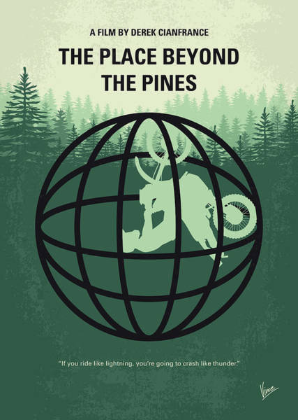Wall Art - Digital Art - No954 My The Place Beyond The Pines Minimal Movie Poster by Chungkong Art