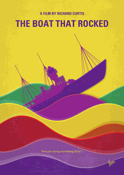Wall Art - Digital Art - No961 My The Boat That Rocked Minimal Movie Poster by Chungkong Art