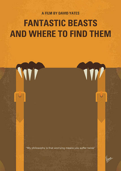 Wall Art - Digital Art - No962 My Fantastic Beasts And Where To Find Them Minimal Movie Poster by Chungkong Art
