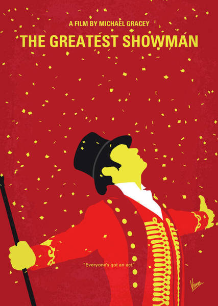 Museum Digital Art - No965 My The Greatest Showman Minimal Movie Poster by Chungkong Art