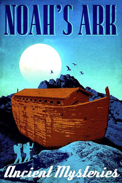Noahs Ark Wall Art - Painting - Noah Ark, Ancient Mystery by Long Shot