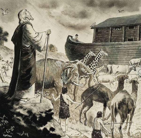 Noah Wall Art - Painting - Noah's Ark by Clive Uptton