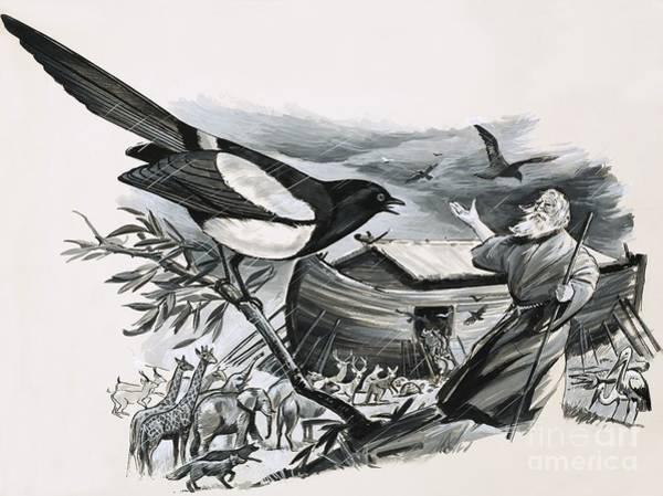 Raven Drawing - Noah's Ark by English School