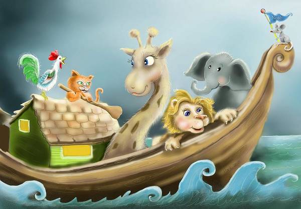 Noahs Ark Wall Art - Digital Art - Noah's Ark by Hank Nunes