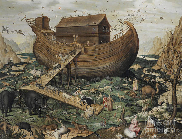 Safe Painting - Noah's Ark On Mount Ararat, 1570 by Simon de Myle