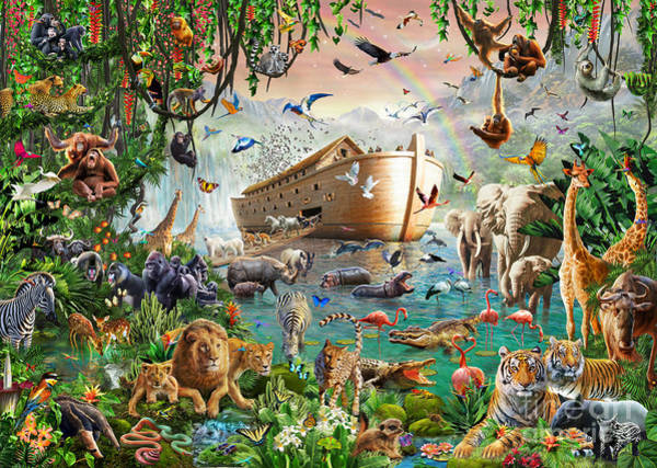 Wall Art - Digital Art - Noah's Ark Variant 1 by MGL Meiklejohn Graphics Licensing