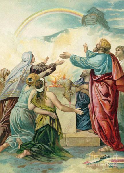 Noahs Ark Wall Art - Painting -  Noah's Sacrifice by German School