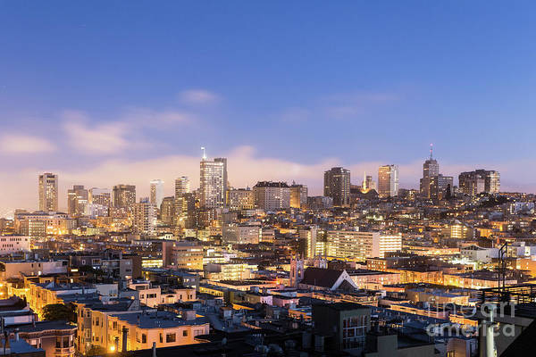 Photograph - Nob Hill At Night In San Francisco by Didier Marti
