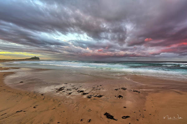 Photograph - Nobbys Beach At Sunset by Mark Whitt