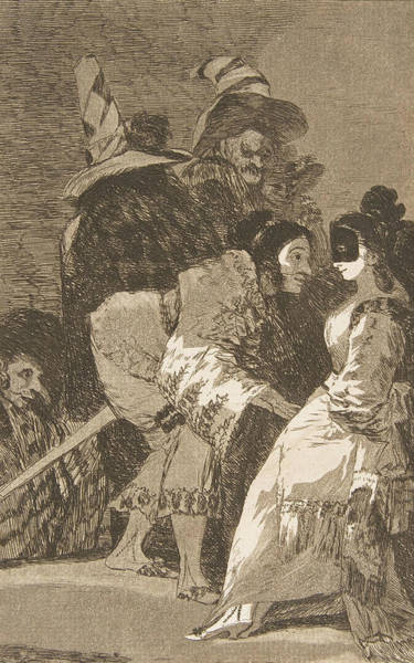 Relief - Nobody Knows Himself by Francisco Goya