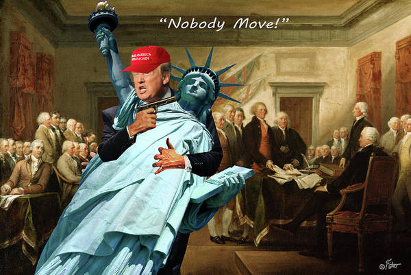 Declaration Of Independence Digital Art - Nobody Move by Barry Kite