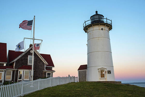 Photograph - Nobska Light Falmouth Ma Cape Cod Sunset by Toby McGuire