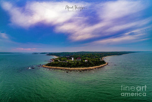 Photograph - Nobska Lighthouse Panorama by Michael Hughes