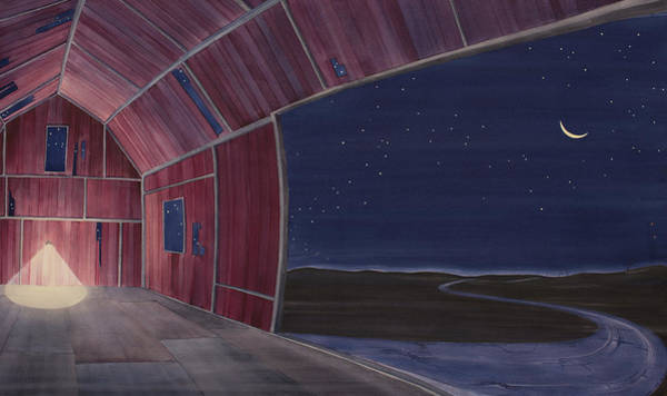 Painting - Nocturnal Barnscape by Scott Kirby