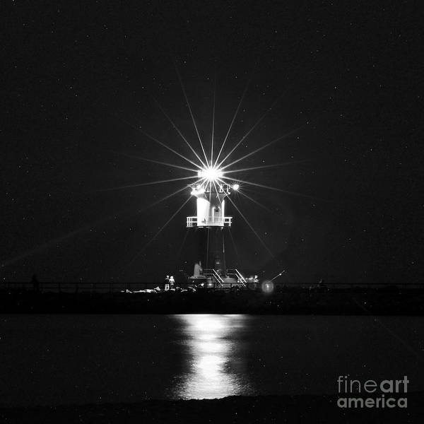 Photograph - Nocturnal Lighting On The Baltic Sea by Silva Wischeropp