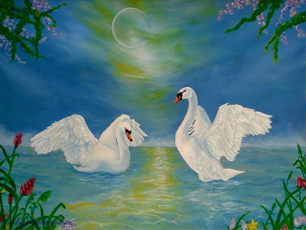 Wall Art - Painting - Nocturnal Sonnet by Faye Anastasopoulou
