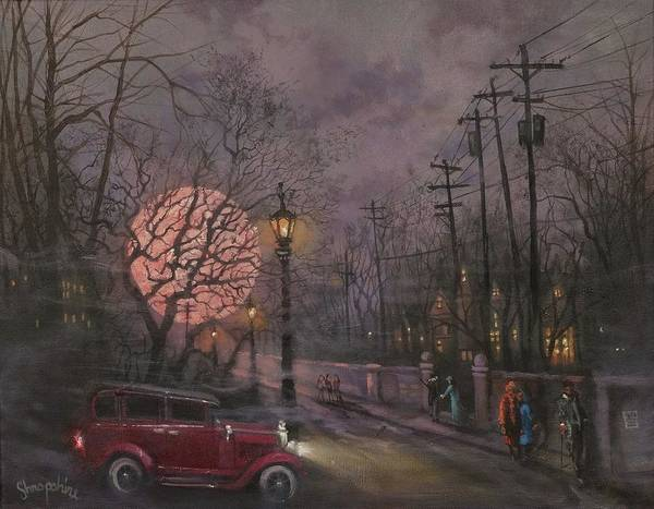 Wall Art - Painting - Nocturne In Lavender by Tom Shropshire