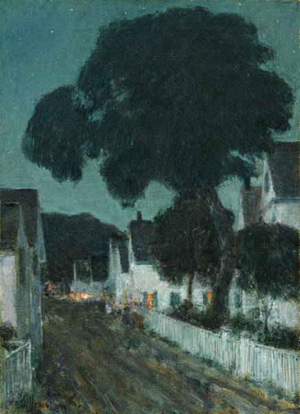 Drawing - Nocturne. Provincetown by Childe Hassam