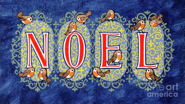 Christmas Card Painting - Noel by Stanley Cooke