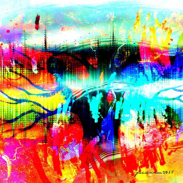 Market Place Mixed Media - Noel Tree by Fania Simon
