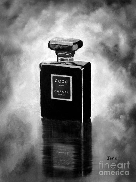 Chanel Painting - Noir Black And White by My Inspiration