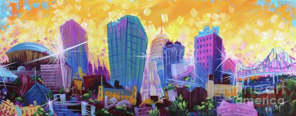Wall Art - Painting - Nola Skyline by Kelly Boyett ART