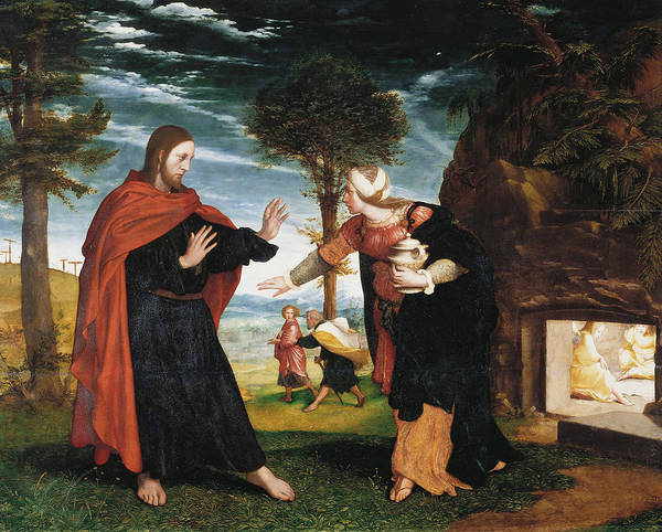 Painting - Noli Me Tangere by Hans Holbein the Younger