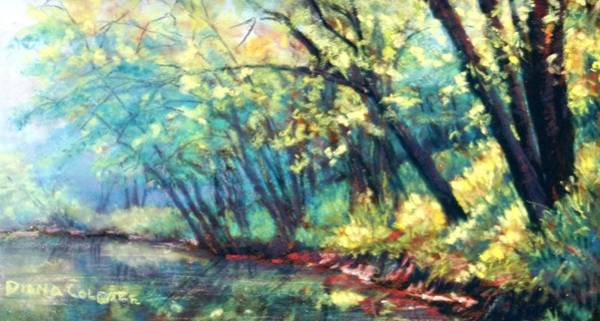 Colgate Wall Art - Pastel - Nolin Lake Tailwater by Diana Colgate
