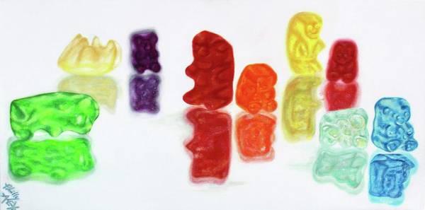 Gummy Bear Painting - Nom Nom Nom by Alex Johnmeyer