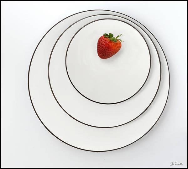 Wall Art - Photograph - Nonconcentric Strawberry No. 2 by Joe Bonita
