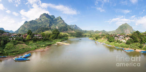Photograph - Nong Khiaw Panorama In North Laos by Didier Marti